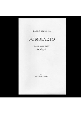 Sommario, Libro dove nasce la pioggia (Sumario – Libro donde nace la lluvia)
