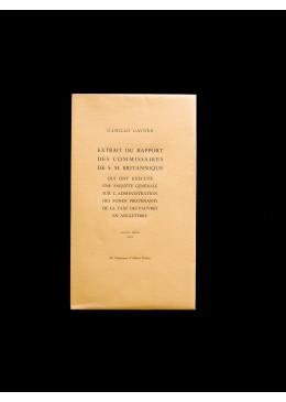 Extrait du rapport des commissaires de S. M. Britannique... - Camillo Benso di Cavour