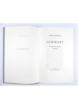 Summary, the Book where the Rain was born - Pablo Neruda
