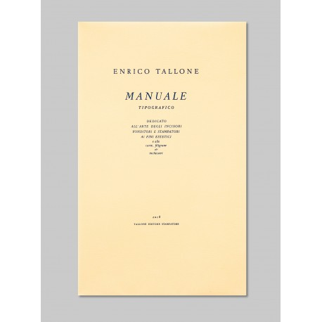 Manuale tipografico IV