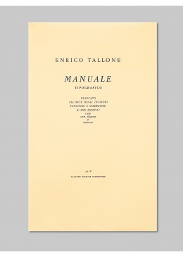 Manuale tipografico IV - cream-color Umbria paper